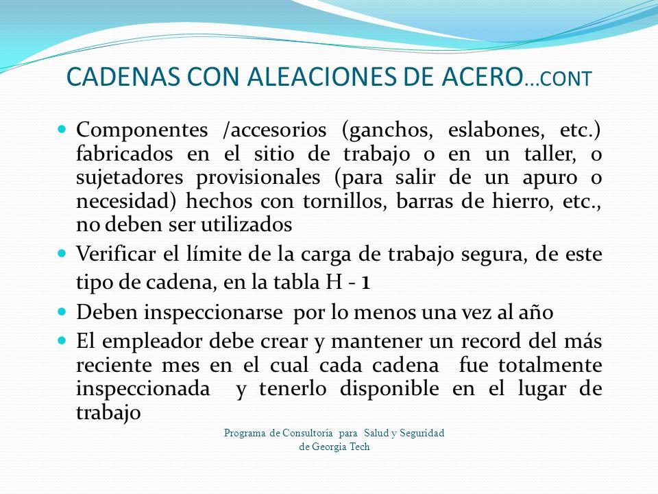 CADENAS CON ALEACIONES DE ACERO...CONT