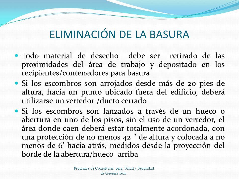 ELIMINACIÓN DE LA BASURA