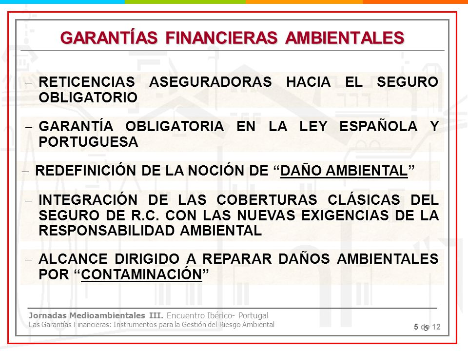 GARANTÍAS FINANCIERAS AMBIENTALES