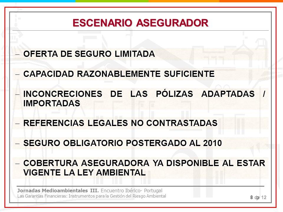 ESCENARIO ASEGURADOR OFERTA DE SEGURO LIMITADA