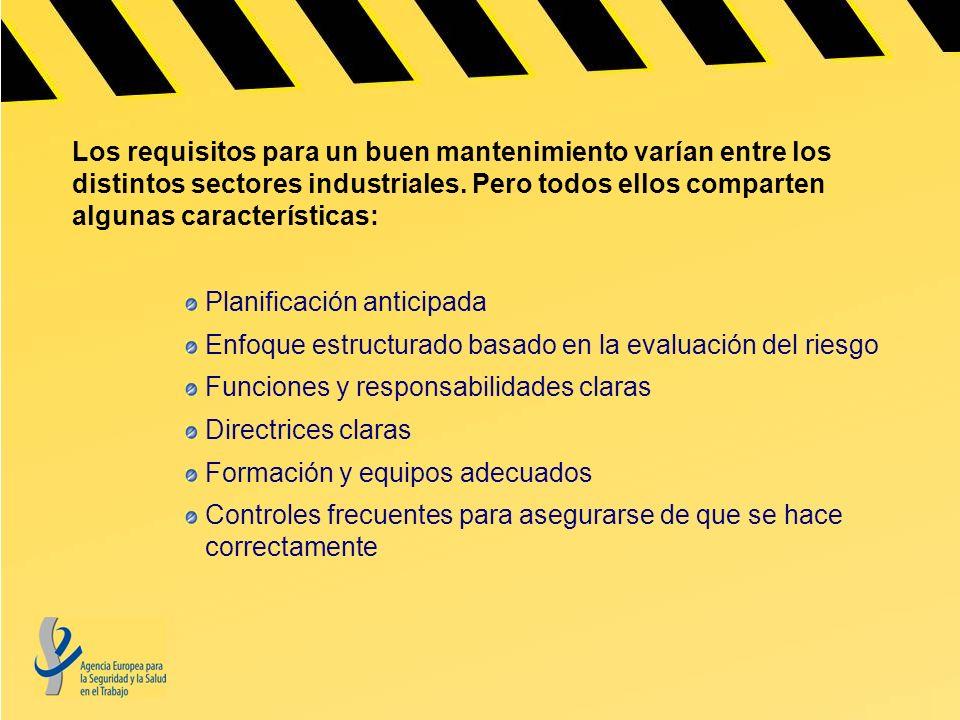 Los requisitos para un buen mantenimiento varían entre los distintos sectores industriales. Pero todos ellos comparten algunas características: