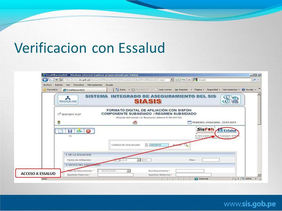 Verificacion con Essalud