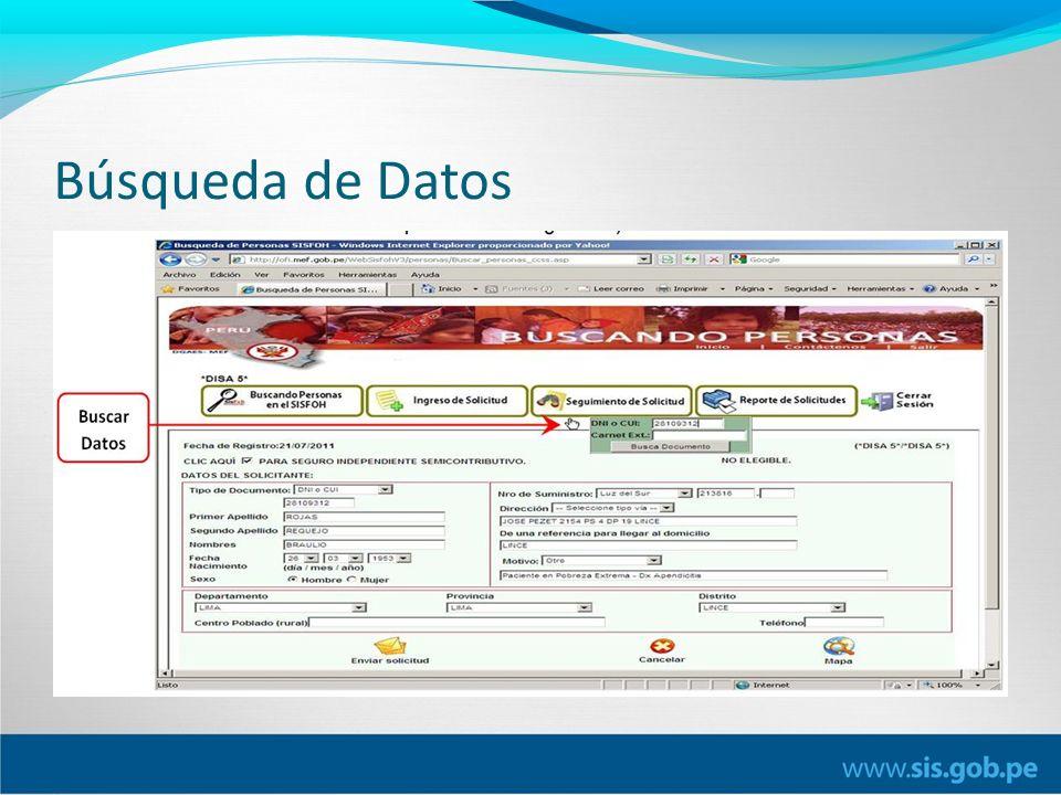 Búsqueda de Datos