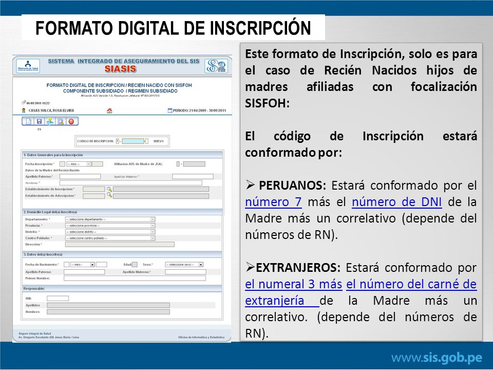 FORMATO DIGITAL DE INSCRIPCIÓN