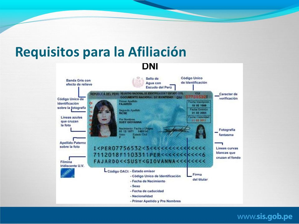 Requisitos para la Afiliación