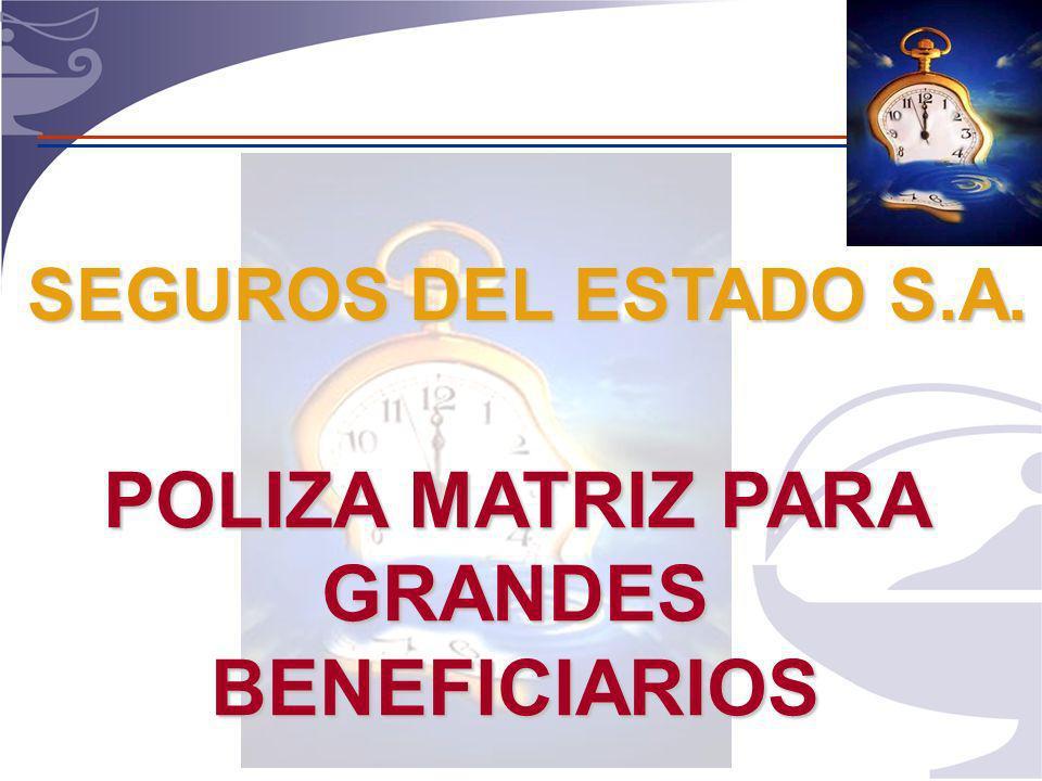 POLIZA MATRIZ PARA GRANDES BENEFICIARIOS