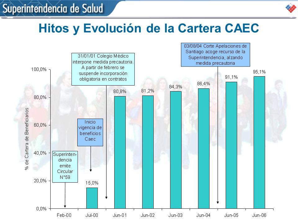 Hitos y Evolución de la Cartera CAEC