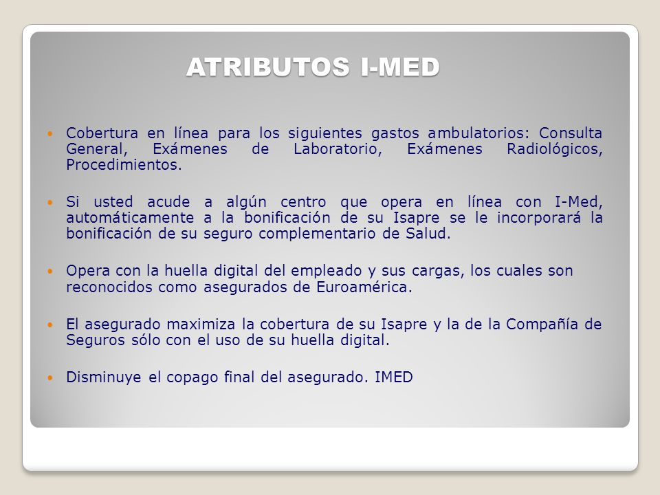 ATRIBUTOS I-MED