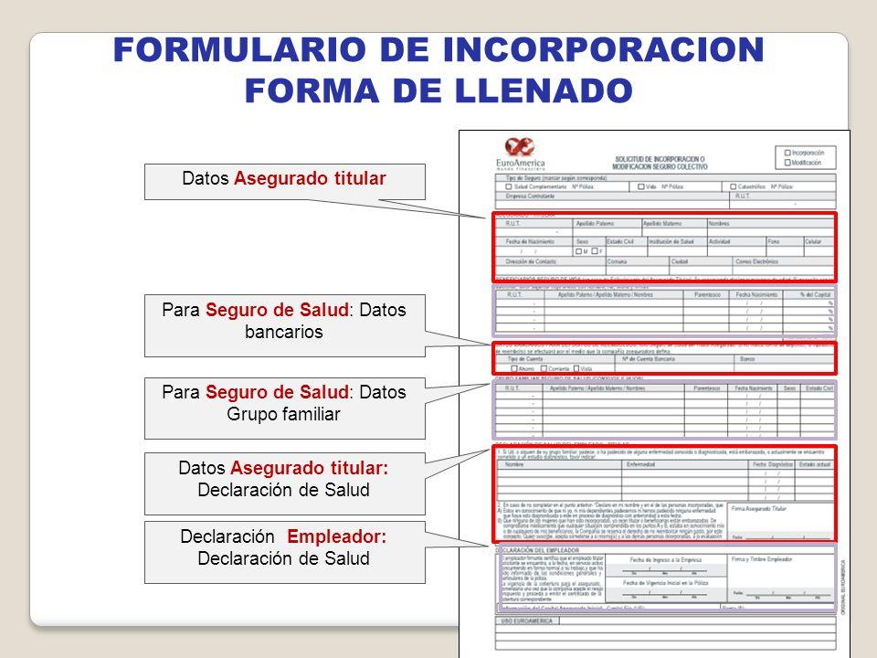 FORMULARIO DE INCORPORACION