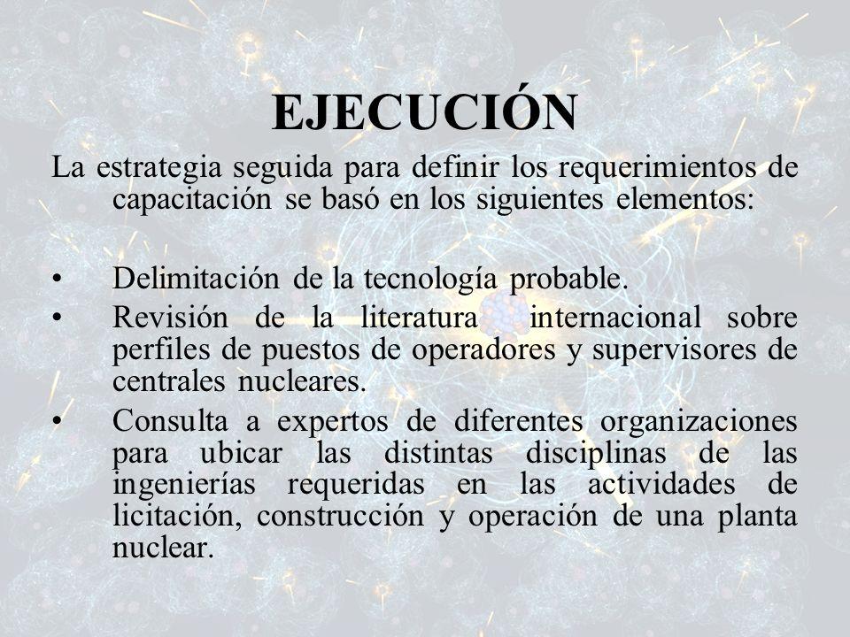 EJECUCIÓN La estrategia seguida para definir los requerimientos de capacitación se basó en los siguientes elementos: