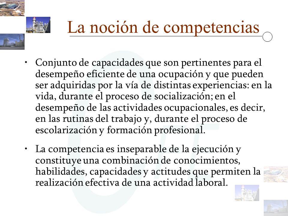 La noción de competencias