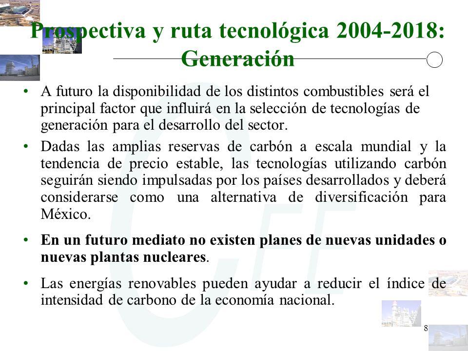 Prospectiva y ruta tecnológica 2004-2018: Generación