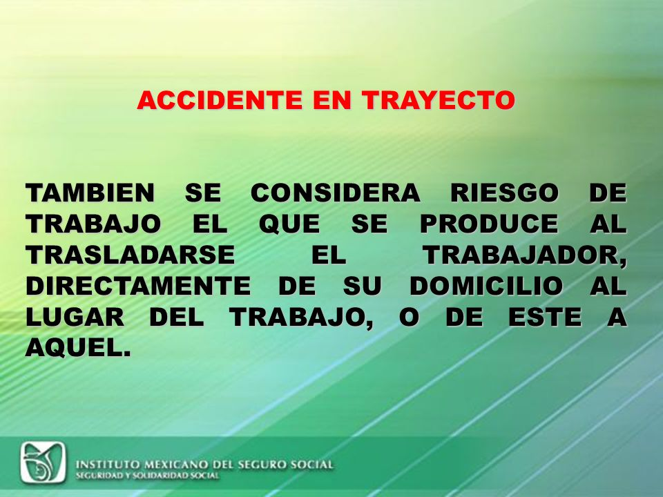 ACCIDENTE EN TRAYECTO