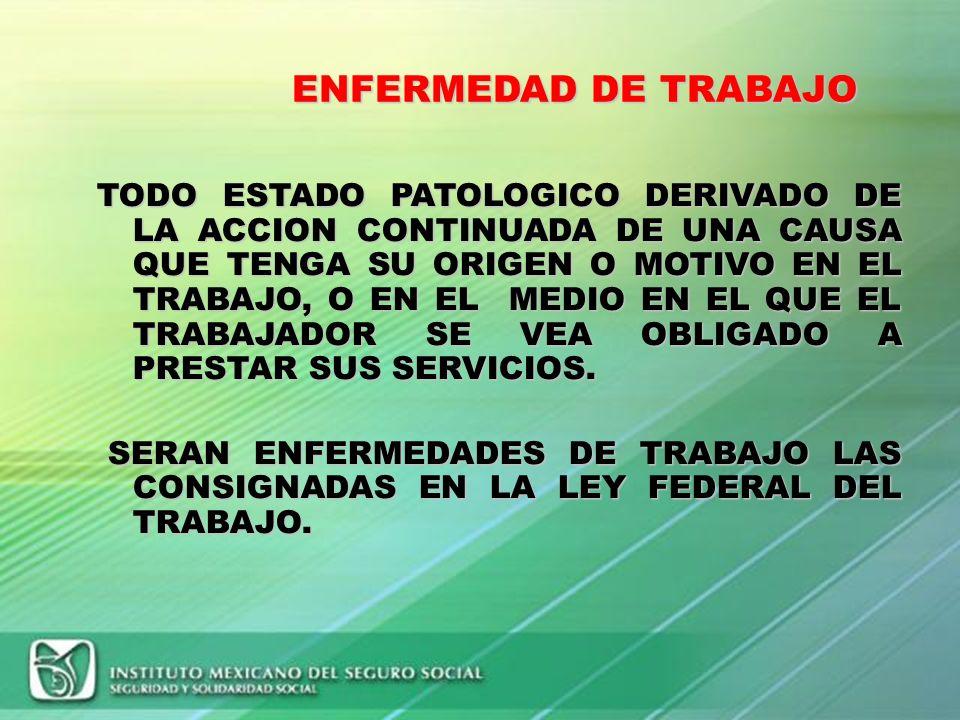 ENFERMEDAD DE TRABAJO