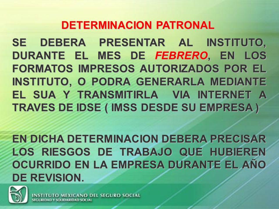 DETERMINACION PATRONAL