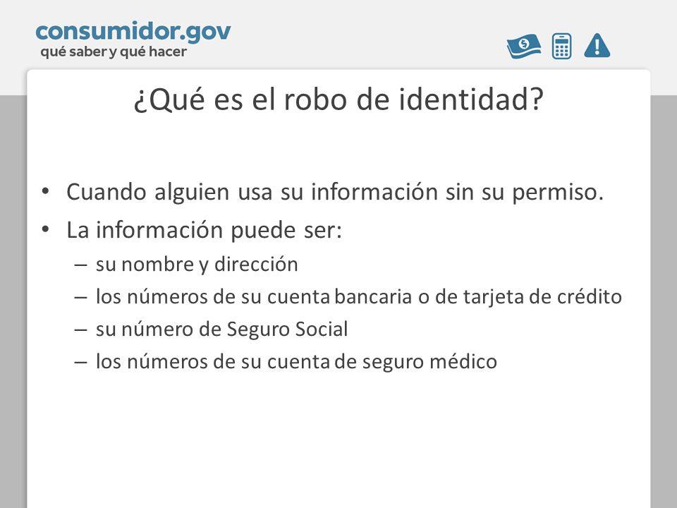 ¿Qué es el robo de identidad