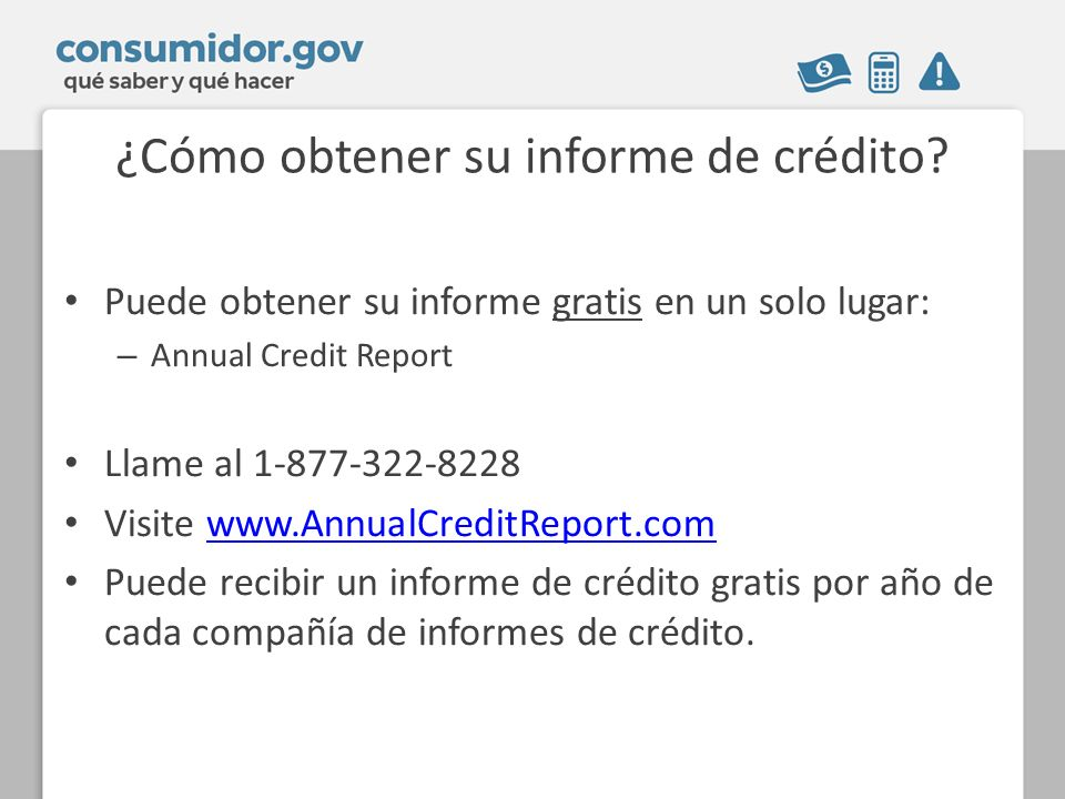 ¿Cómo obtener su informe de crédito