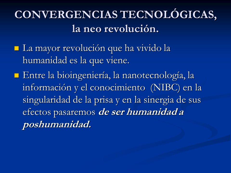 CONVERGENCIAS TECNOLÓGICAS, la neo revolución.