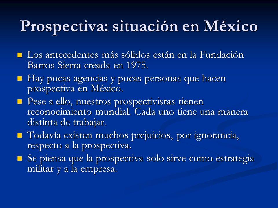 Prospectiva: situación en México