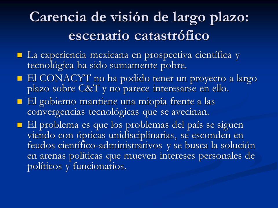 Carencia de visión de largo plazo: escenario catastrófico