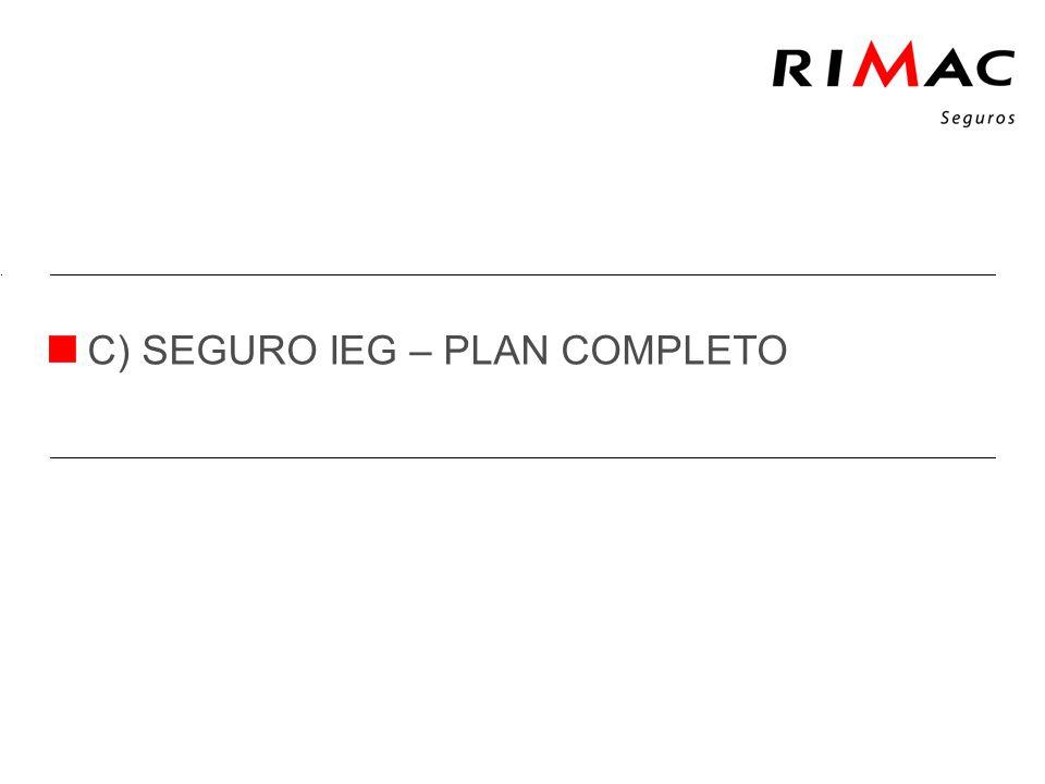 C) SEGURO IEG – PLAN COMPLETO