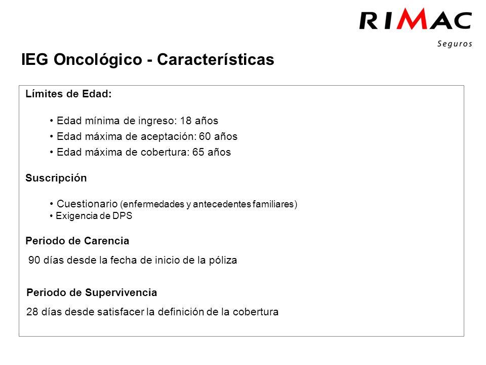 Click to add tittle IEG Oncológico - Características