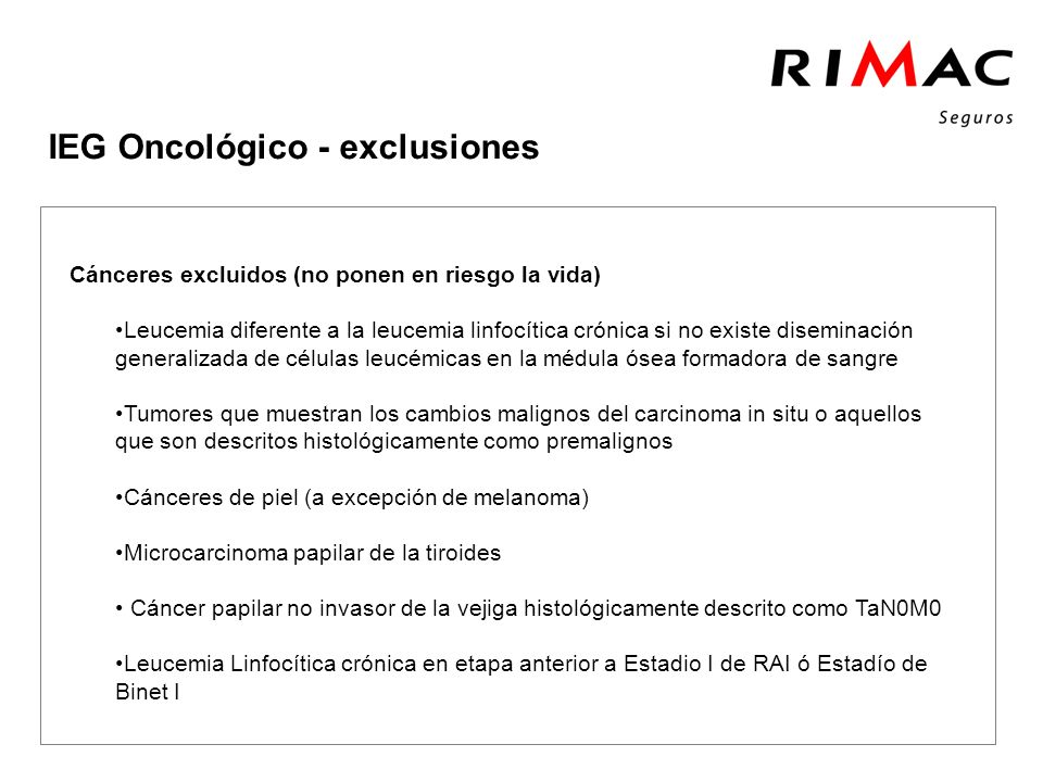 Click to add tittle IEG Oncológico - exclusiones