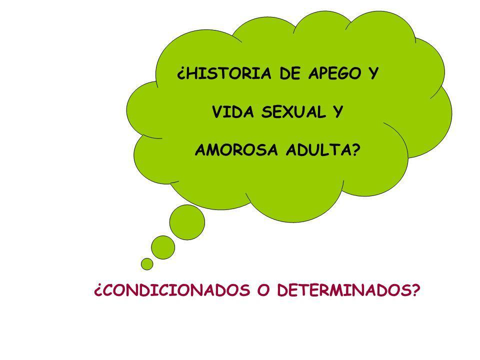 ¿HISTORIA DE APEGO Y VIDA SEXUAL Y AMOROSA ADULTA ¿CONDICIONADOS O DETERMINADOS