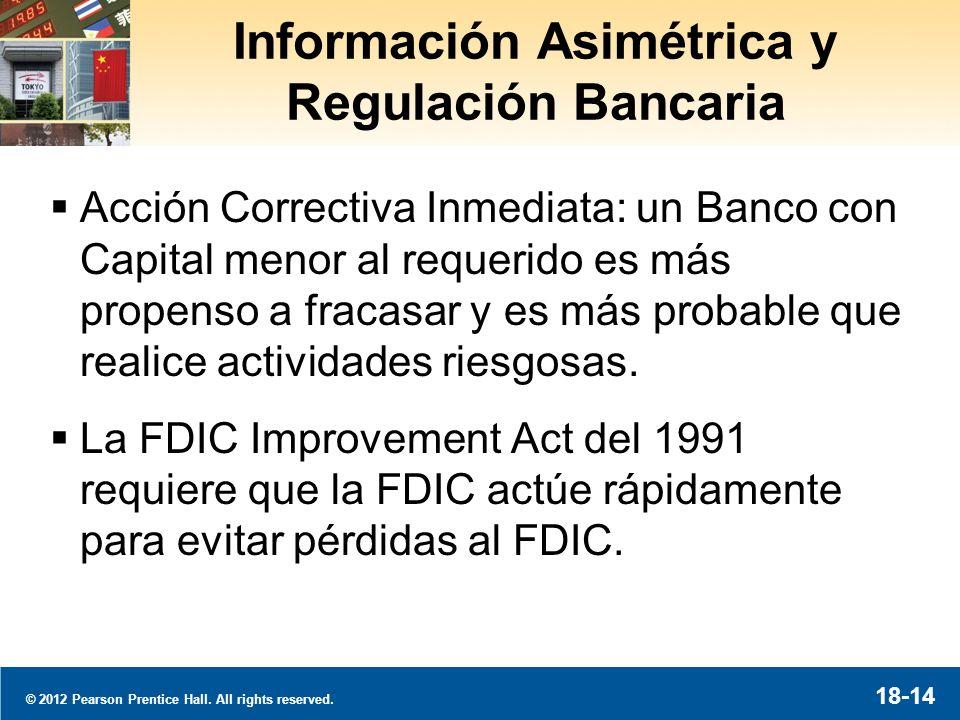 Información Asimétrica y Regulación Bancaria