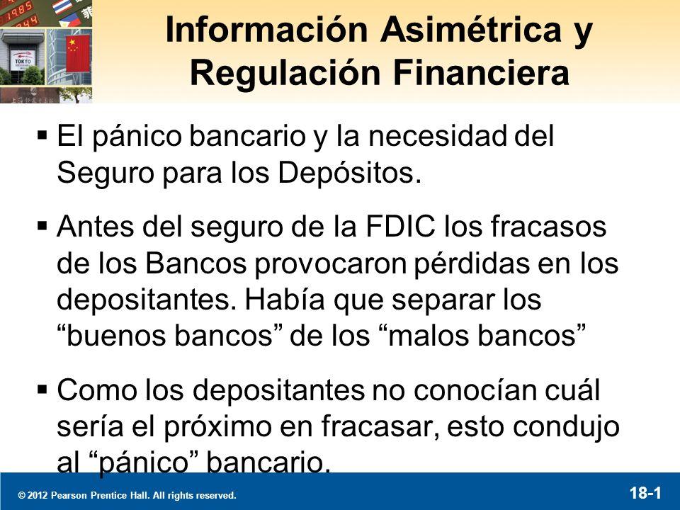 Información Asimétrica y Regulación Financiera