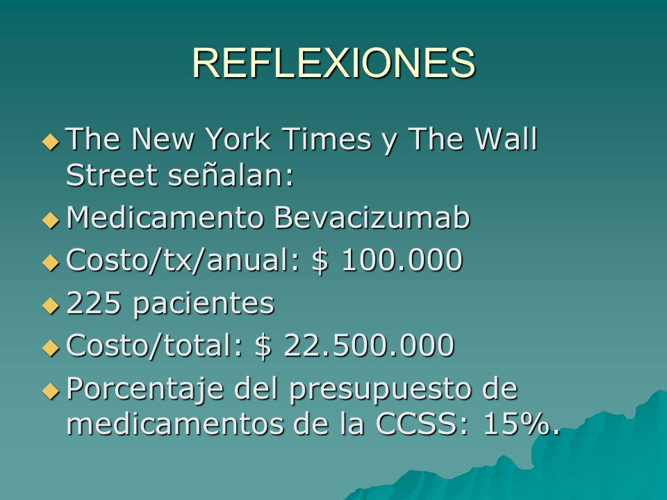 REFLEXIONES The New York Times y The Wall Street señalan: