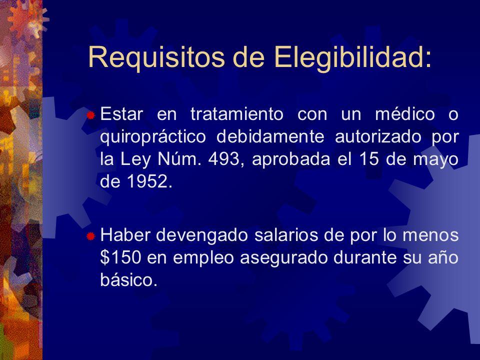 Requisitos de Elegibilidad: