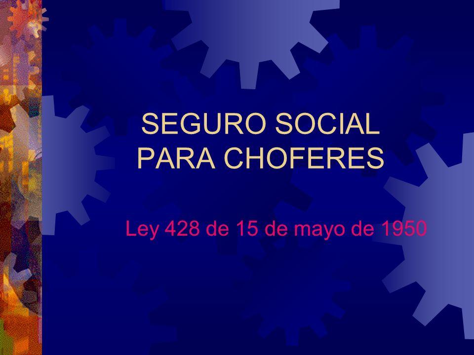 SEGURO SOCIAL PARA CHOFERES