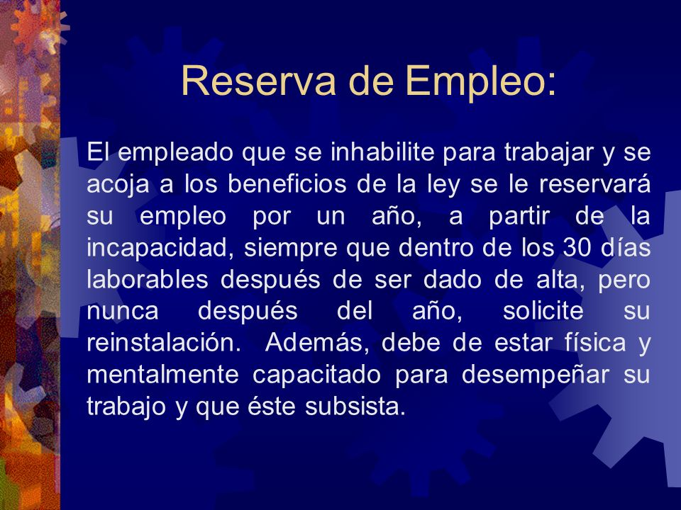Reserva de Empleo: