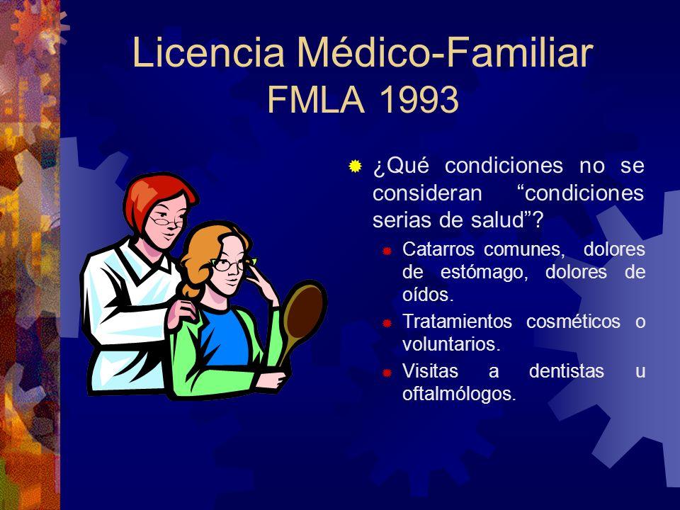 Licencia Médico-Familiar FMLA 1993