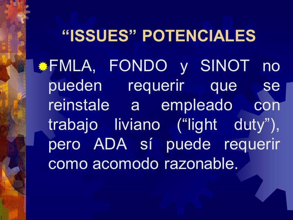 ISSUES POTENCIALES