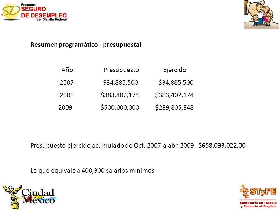 Resumen programático - presupuestal