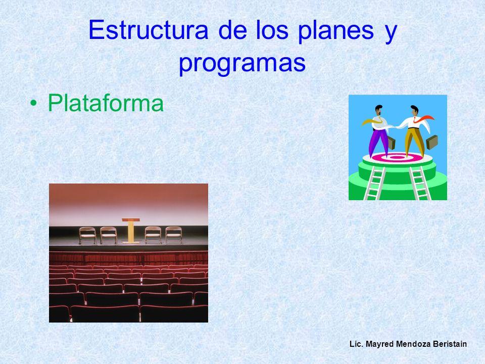 Estructura de los planes y programas