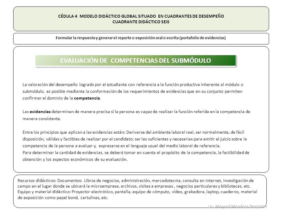 EVALUACIÓN DE COMPETENCIAS DEL SUBMÓDULO