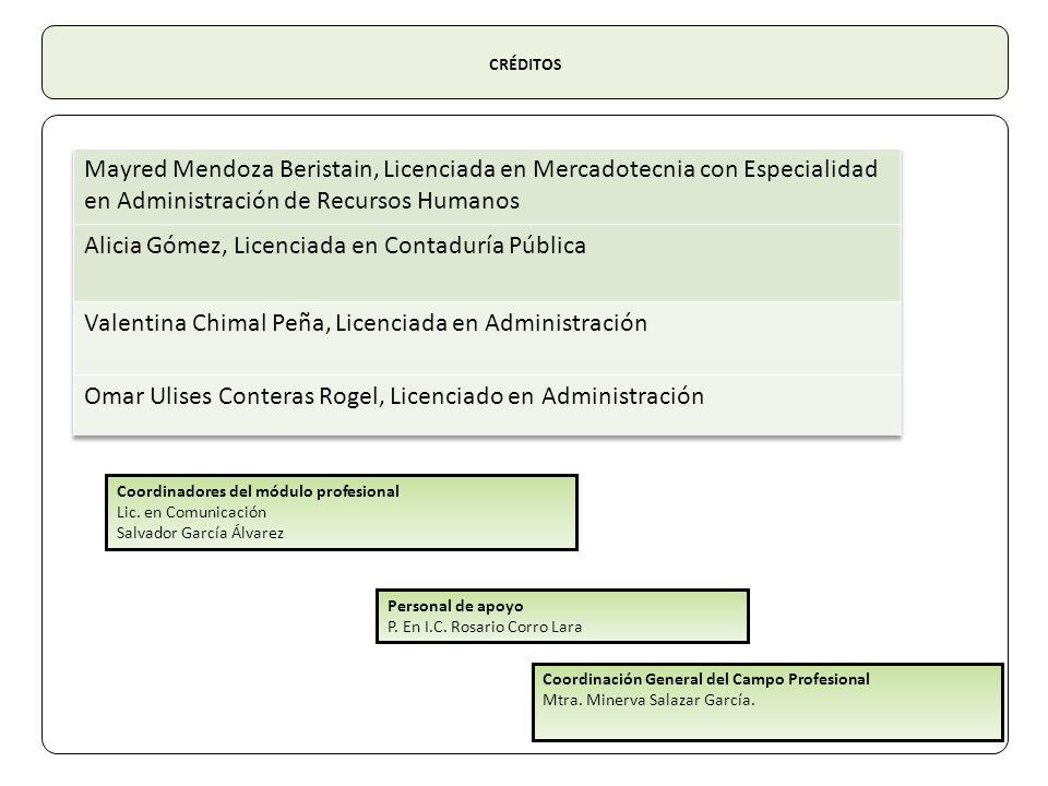 Alicia Gómez, Licenciada en Contaduría Pública