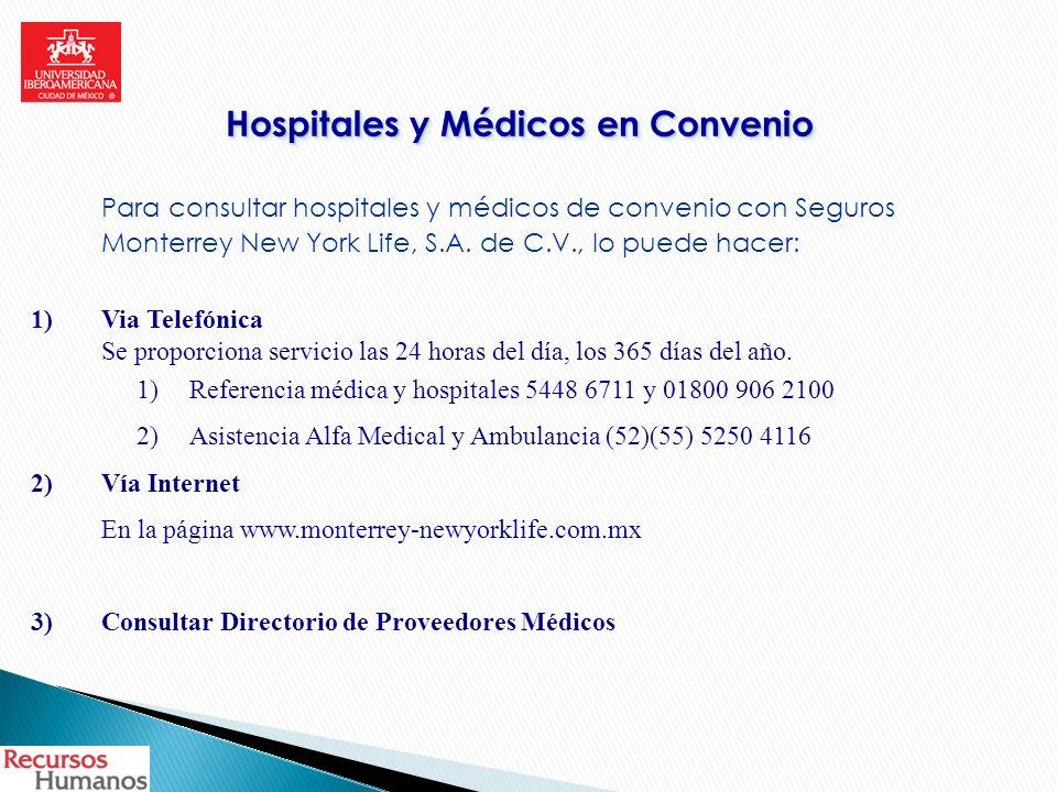 Hospitales y Médicos en Convenio