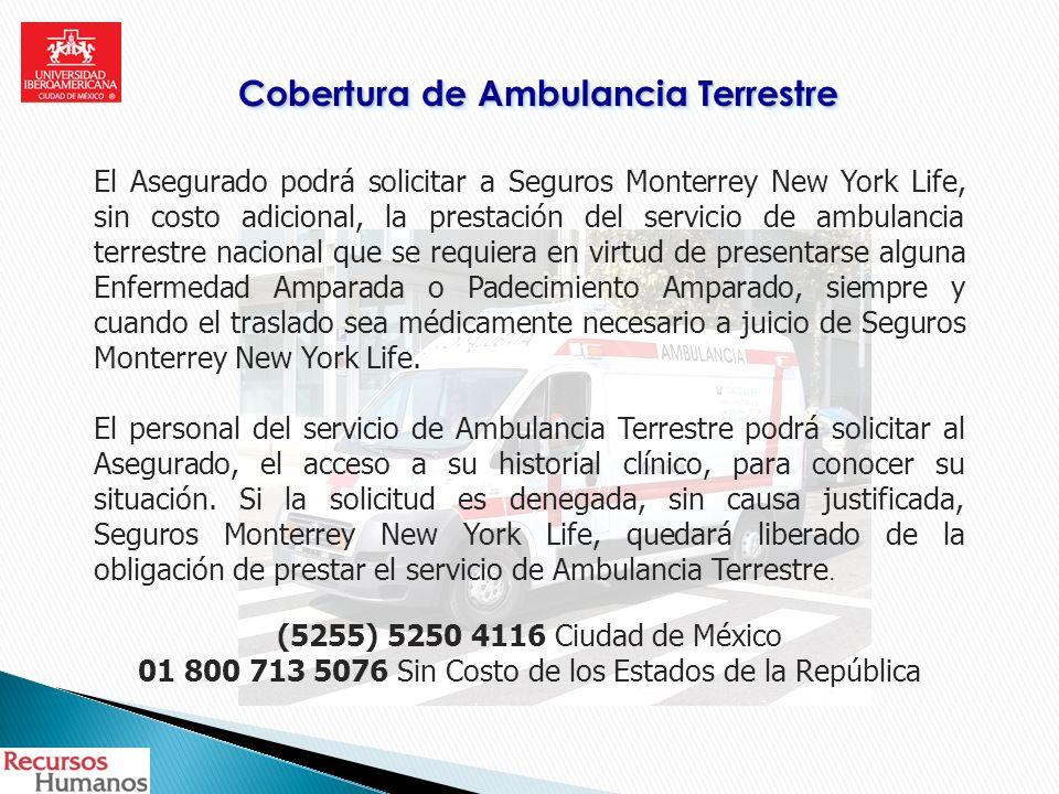 Cobertura de Ambulancia Terrestre