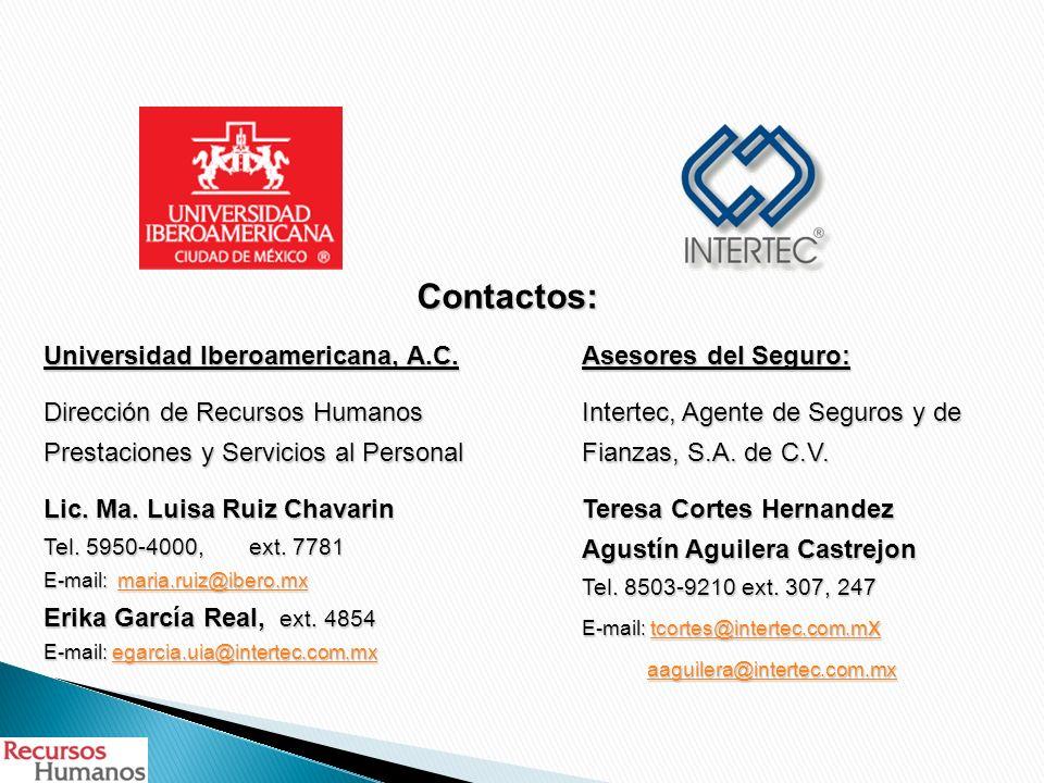 Contactos: Universidad Iberoamericana, A.C.