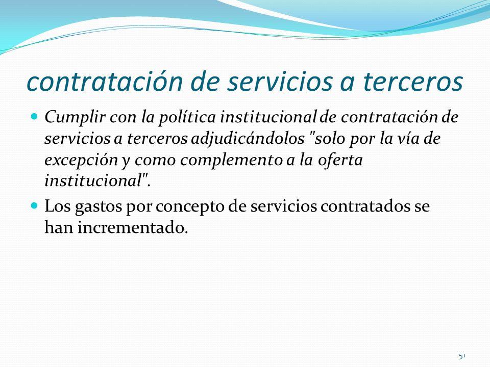 contratación de servicios a terceros