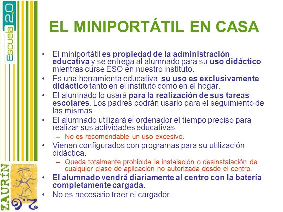 EL MINIPORTÁTIL EN CASA