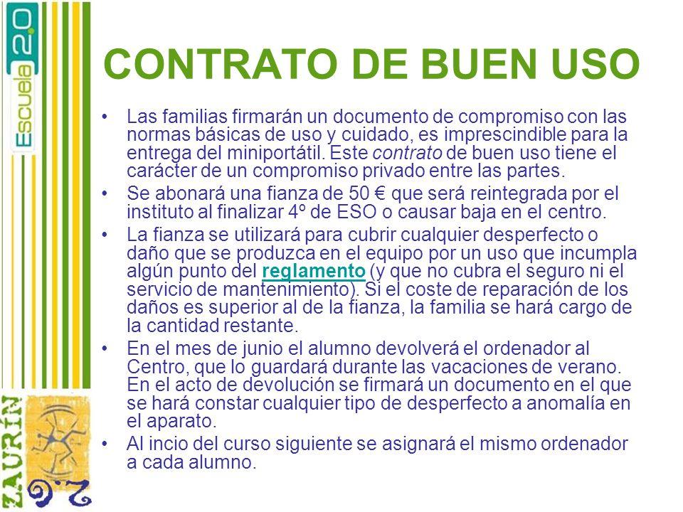 CONTRATO DE BUEN USO