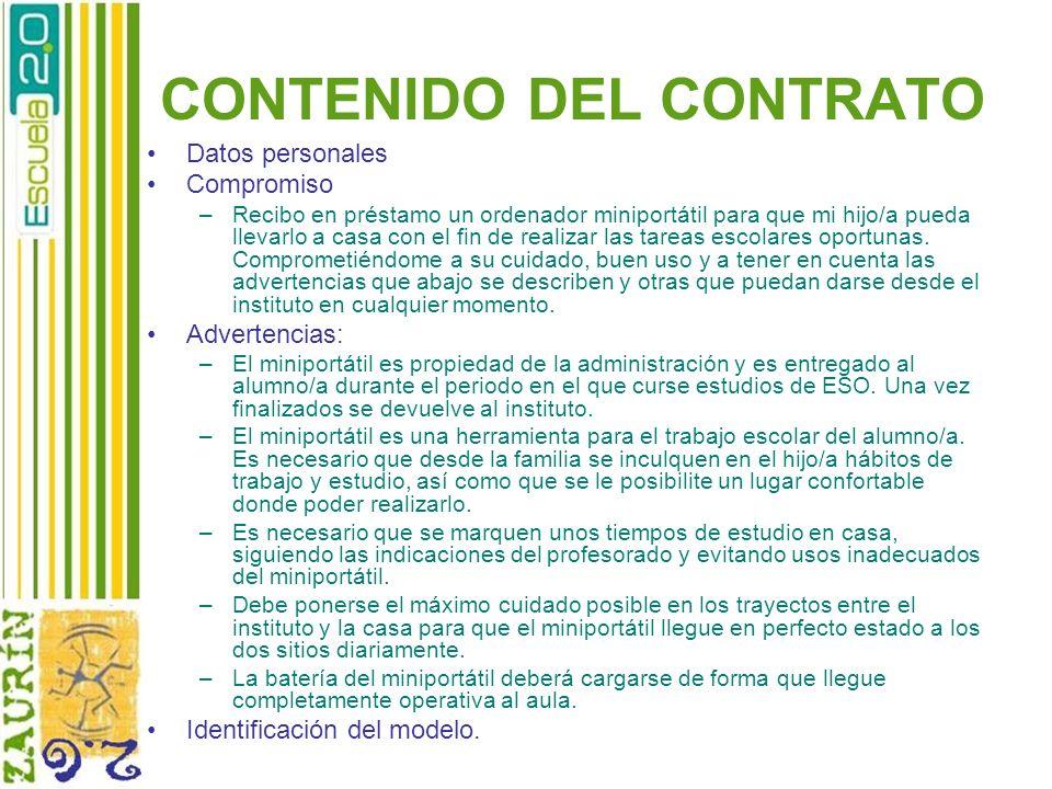 CONTENIDO DEL CONTRATO