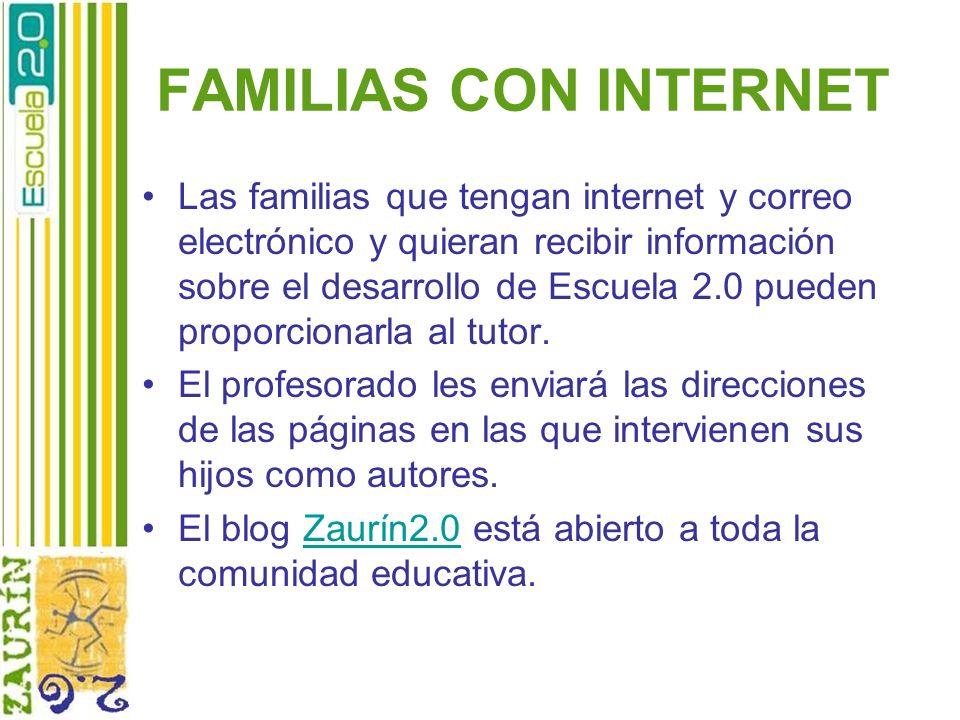 FAMILIAS CON INTERNET