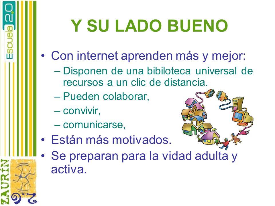 Y SU LADO BUENO Con internet aprenden más y mejor: