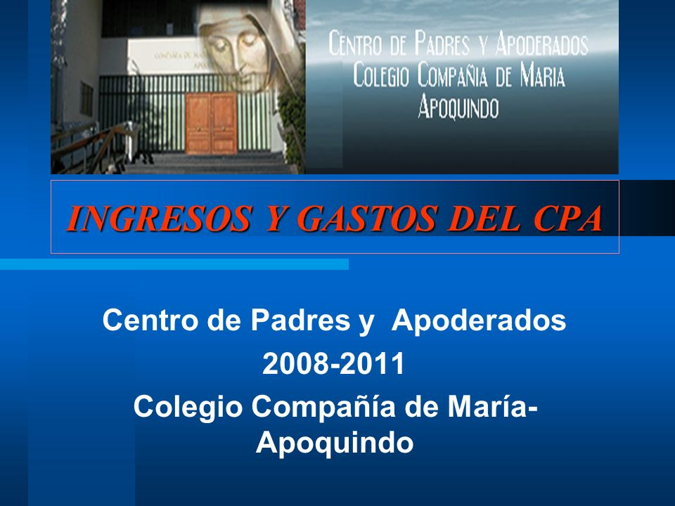 INGRESOS Y GASTOS DEL CPA